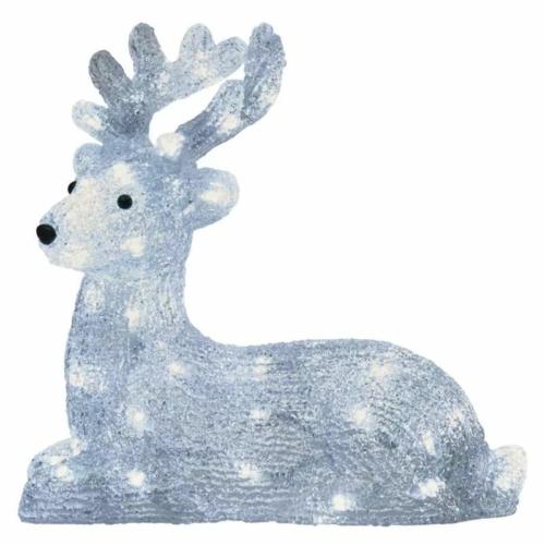 EMOS LED karácsonyi szarvas, 27 cm, kültéri és beltéri, hideg fehér, időzítő, IP44