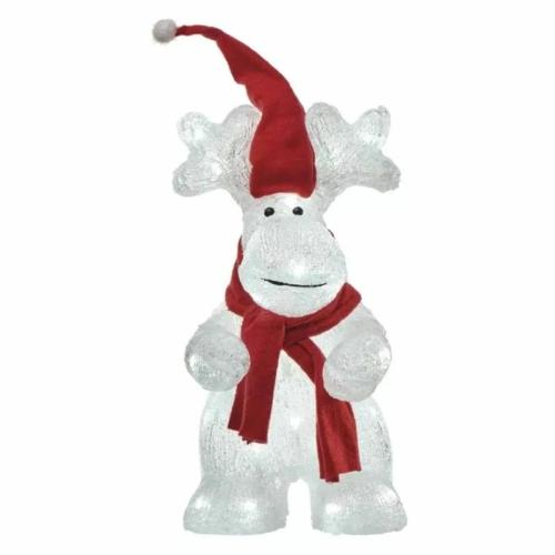 EMOS LED karácsonyi rénszarvas, 34.5 cm, kültéri és beltéri, hideg fehér, időzítő, IP44