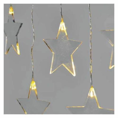 EMOS LED karácsonyi fényfüggöny csillagok, 45x84 cm, meleg fehér, IP44