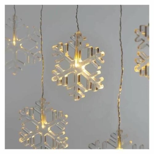 EMOS LED karácsonyi fényfüggöny hópelyhek, 45x84 cm, meleg fehér, időzítő IP44