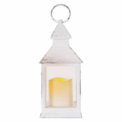 EMOS LED dekoráció lámpa, antik, fehér, villogó, 3x AAA, beltéri, vintage, időzítő