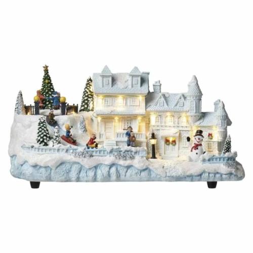 EMOS LED karácsonyi házikó, 20 cm, beltéri, meleg fehér