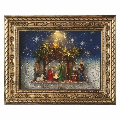 EMOS LED karácsonyi betlehem, 19.3 x 24.3 cm, 4x AA, beltérre, meleg fehér, időzítő