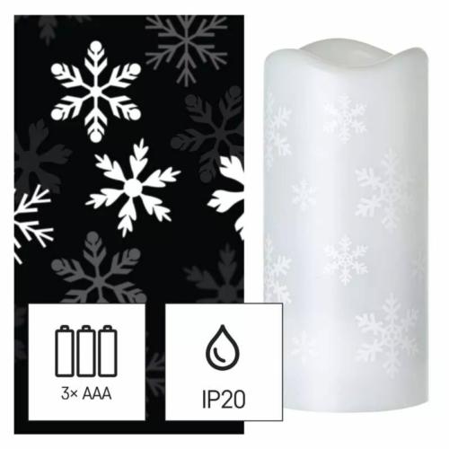 EMOS LED dekoráció projektor hópelyhek, 3x AAA beltéri, hideg fehér