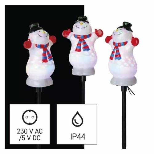 EMOS LED projektor hóemberek 3 db, 1.8 m, kültéri és beltéri, RGB