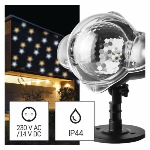 EMOS LED dekoráció projektor csillagok, meleg/hideg fehér, IP44