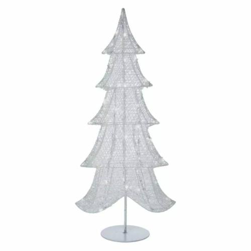EMOS LED karácsonyi 3D karácsonyfa, 90 cm, beltéri, hideg fehér, időzítő