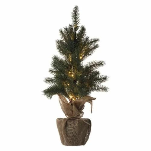 EMOS LED karácsonyfa, havas, 52 cm, 3x AA, beltéri, meleg fehér, időzítő