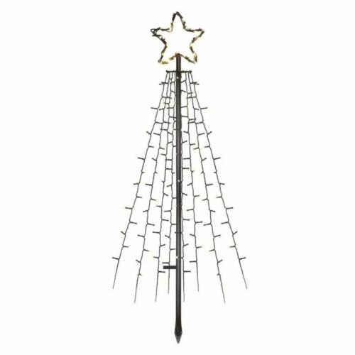 EMOS LED karácsonyfa, fém, 180 cm, kültéri és beltéri, meleg fehér, időzítő