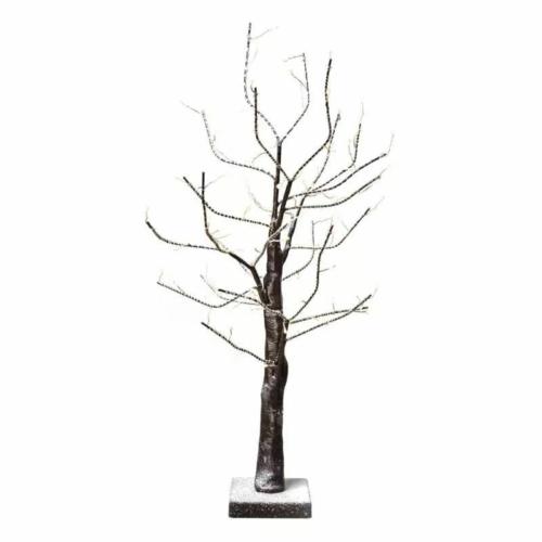 EMOS LED karácsonyfa, havas, 60 cm, 3x AA, beltéri, meleg fehér, időzítő