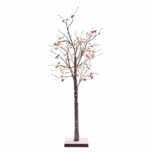 EMOS LED világító karácsonyfa gömbökkel, 120 cm, kültéri és beltéri, meleg fehér, időzítő, IP44