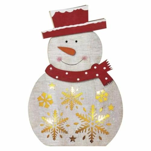 EMOS LED karácsonyi hóember, fa, 30 cm, 2x AA, beltéri, meleg fehér, időzítő