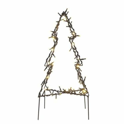 EMOS LED karácsonyfa, fém, 50 cm, kültéri és beltéri, meleg fehér, IP44