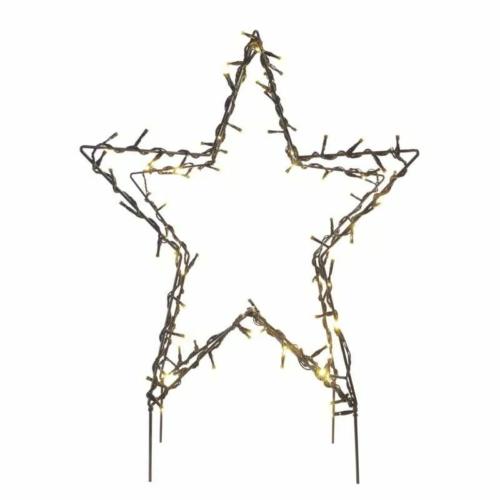 EMOS LED karácsonyi csillag, fém, 56 cm, kültéri és beltéri, meleg fehér, IP44