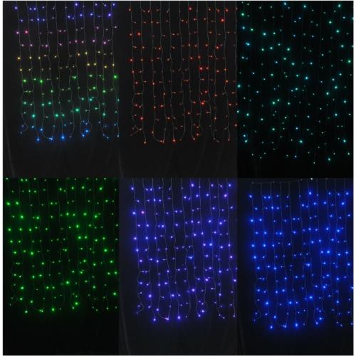 Entac Karácsonyi Függöny IP44 144 LED RGB 8x8 Funkció 1x1.5m IR távirányítóval