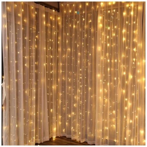 Entac Karácsonyi Függöny IP44 150 LED 1.5x1.5m 8 funkció