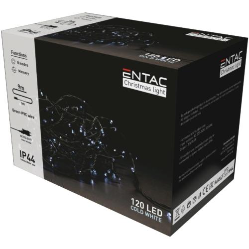 Entac Karácsonyi IP44 120 LED Füzér CW 9m