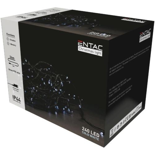 Entac Karácsonyi IP44 240 LED Füzér CW 24m