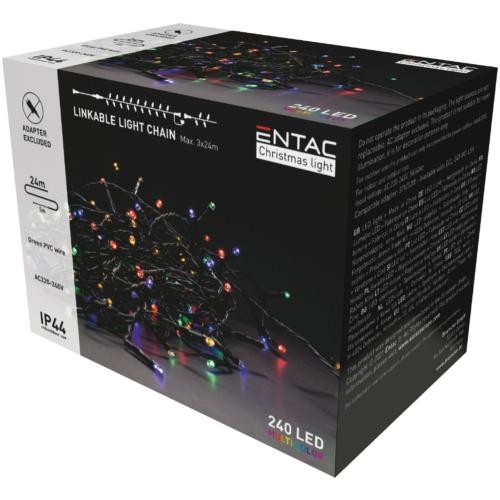 Entac Karácsonyi IP44 240 LED Sorolható Füzér MC 24m adapter nélkül