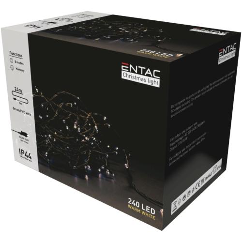 Entac Karácsonyi IP44 240 LED Füzér WW 24m