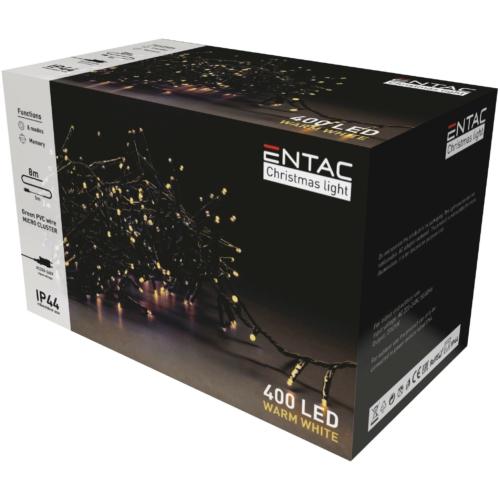 Entac Karácsonyi IP44 400 LED Fürtös Fénysor WW 8m