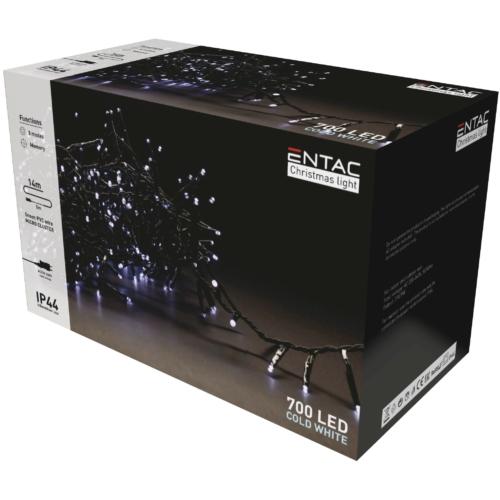 Entac Karácsonyi IP44 700 LED Fürtös Fénysor CW 14m