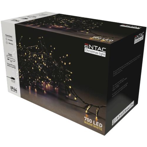 Entac Karácsonyi IP44 700 LED Fürtös Fénysor WW 14m