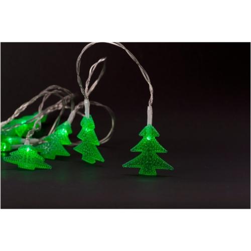 Entac Karácsonyi Beltéri PVC Zöld Fenyőfa 10 LED 1,65m (2AA nt.)