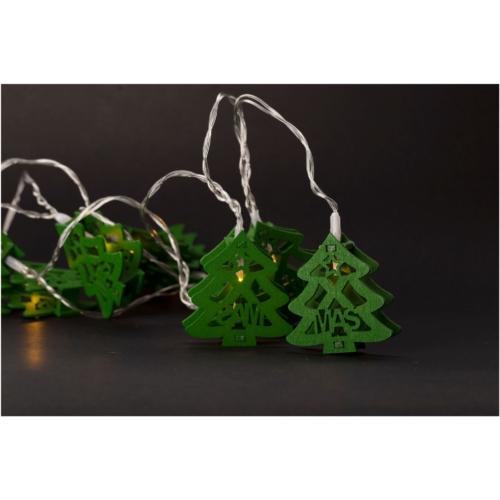 Entac Karácsonyi Beltéri Fa Karácsonyfa Zöld 10 LED WW 1,65m (2AA nt.)