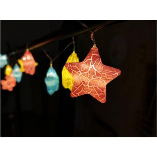 Entac Karácsonyi Beltéri Füzér Színes csillagok 1,65m (2AA nt.)