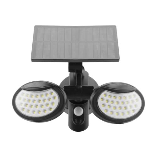 Entac Napelemes Műanyag Fali lámpa 10W SMD 2 fej mozgásérzékelővel