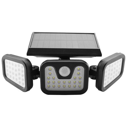 Entac Napelemes Műanyag Fali lámpa 15W SMD 3 fej mozgásérzékelővel