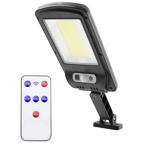Entac Napelemes Műanyag Fali lámpa 5W COB mozgásérzékelővel és IR távirányítóval