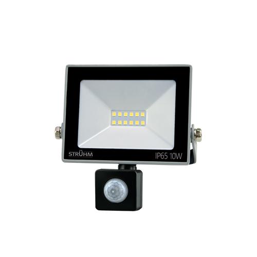 Strühm KROMA LED reflektor mozgásérzékelővel 10W GREY 4500K