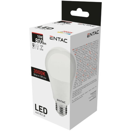 Entac LED izzó E27 10W WW 3000K