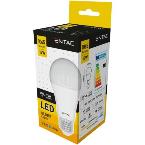 Entac LED izzó E27 12W CW 6400K