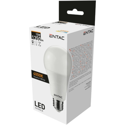 Entac LED izzó E27 15W NW 4000K