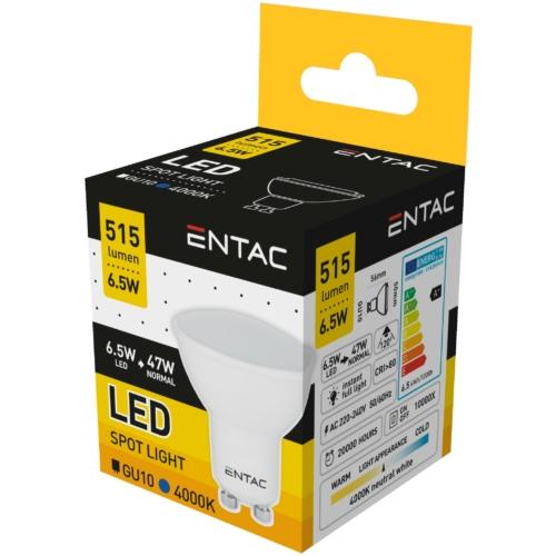 Entac LED spot izzó GU10 6,5W NW 4000K