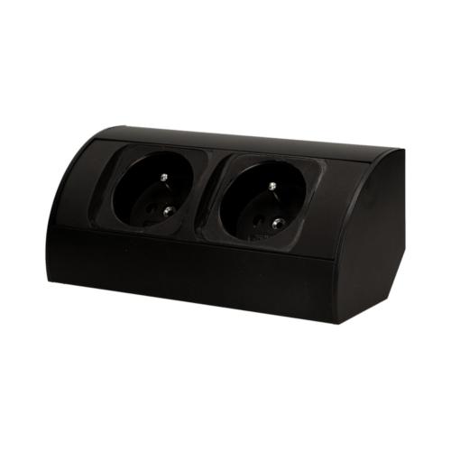 Orno szekrény alatti elosztó, 2x2P + Z aljzat, 0.6 méter kábel, fekete