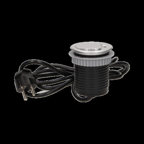 Orno süllyeszthető bútor elosztó 6 cm, USB töltő, 1.8 m kábel