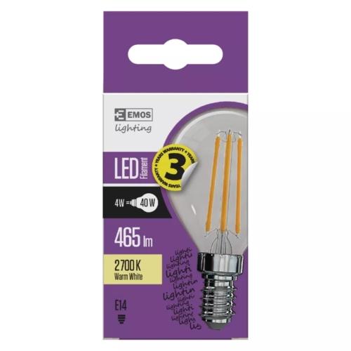 EMOS LED FILAMENT IZZÓ MINI GL 4W (40W) 465LM E14 WW A++ (Z74230)