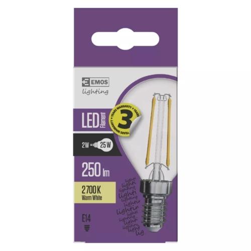 EMOS LED FILAMENT IZZÓ MINI GL 2W (25W) 250LM E14 WW A++