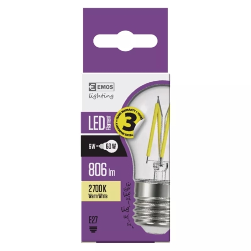 EMOS LED FILAMENT IZZÓ MINI GL 6W (60W) 806LM E27 WW A++ (Z74247)