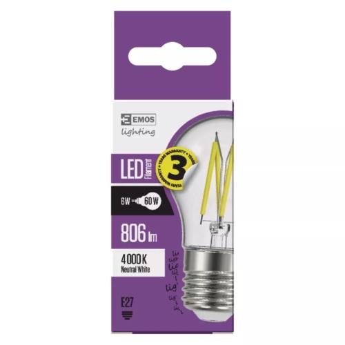 EMOS LED FILAMENT IZZÓ MINI GL 6W (60W) 806LM E27 NW A++