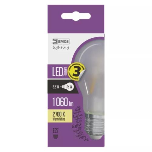 EMOS LED FILAMENT IZZÓ A60 8,5W (75W) 1060LM WW MATT A++ (Z74275)