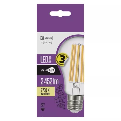 EMOS LED FILAMENT IZZÓ A67 17W (150W) 2452LM E27 WW A++