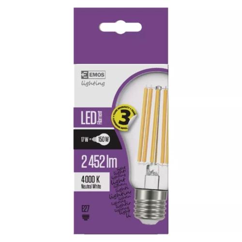 EMOS LED FILAMENT IZZÓ A67 17W (150W) 2452LM E27 NW A++ (Z74291)