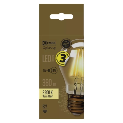 EMOS LED IZZÓ VINTAGE A60 4W (34W) 380LM E27 WW+ (Z74301)