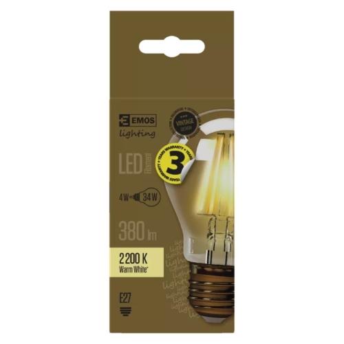 EMOS LED IZZÓ VINTAGE A60 4W (34W) 380LM E27 WW+