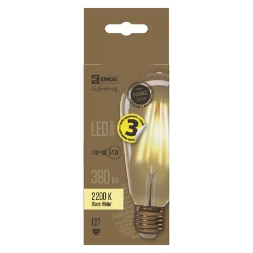 EMOS LED IZZÓ VINTAGE ST64 4W (34W) 380LM E27 WW+ (Z74302)